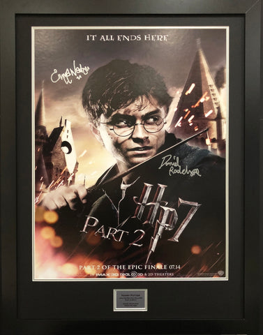 Harry Potter Signed Movie Poster with COA - Kicking The Balls