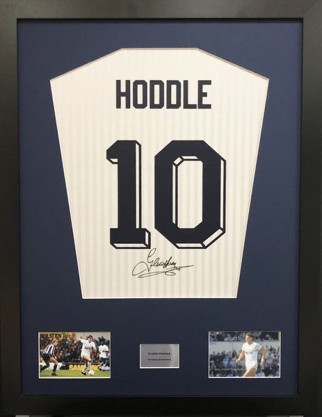 Glenn Hoddle Tottenham Hotspur Signed Shirt Display With COA