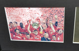 Liverpool Istanbul 2005 Team Signed Shirt Champions League Display with COA - Kicking The Balls