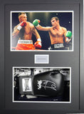Joe Calzaghe Signed Glove 3D Display with COA - Kicking The Balls