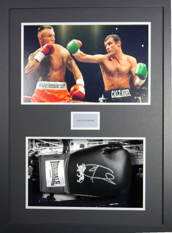 Joe Calzaghe Signed Glove 3D Display with Coa-Frame-It-Display-It-Framing-Kit-DIY-Display-Manufacturers