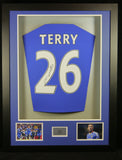 John Terry Chelsea Signed Shirt 3D Display with COA