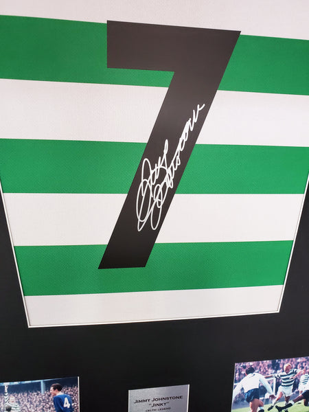 Jimmy Johnstone Celtic Signed Shirt Display with COA - Kicking The Balls