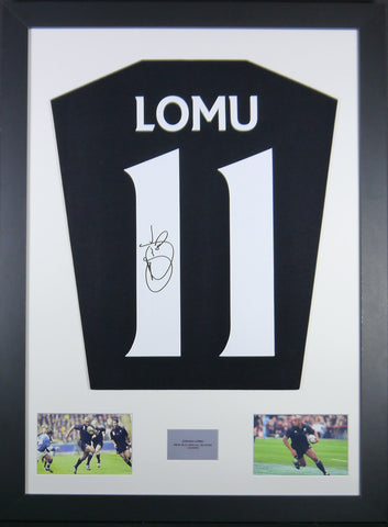 Jonah Lomu New Zealand All Blacks Signed Shirt Display with COA - Kicking The Balls
