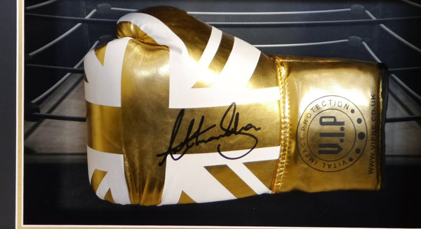 Anthony Joshua Signed Boxing Glove Limited Edition 3D Display with COA - Kicking The Balls