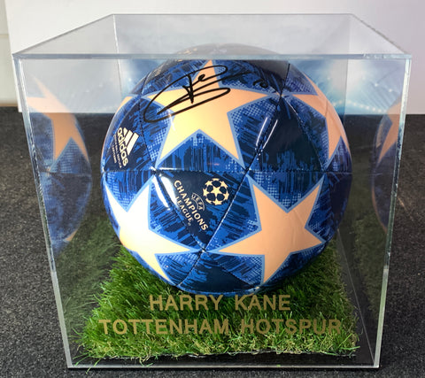 Kane signed Tottenham Hotspur Champions League Ball in 3d Display case with COA - Kicking The Balls
