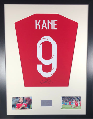 Harry Kane England World Cup Signed Shirt Display With COA - Kicking The Balls