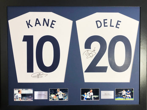 Harry Kane and Dele Alli Signed Tottenham Hotspur Shirt Display with COA