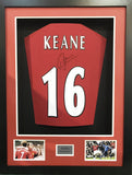 Roy Keane signed Manchester United Shirt in 3D Display with COA - Kicking The Balls