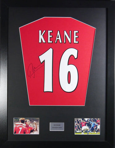 Roy Keane Manchester United Signed Shirt Display With COA