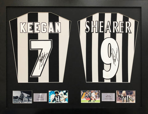 Kevin Keegan and Alan Shearer Newcastle United Signed Shirt Display with COA