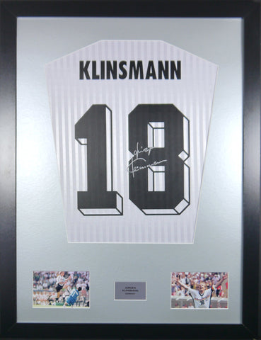 Jurgen Klinsmann Germany Signed Shirt Display With COA - Kicking The Balls