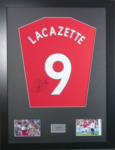 Alexandre Lacazette Arsenal Signed Shirt Display With COA - Kicking The Balls