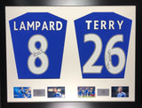 Lampard and and Terry Chelsea Signed Shirt Display with COA