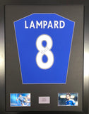 Frank Lampard Chelsea Signed Shirt Display With COA