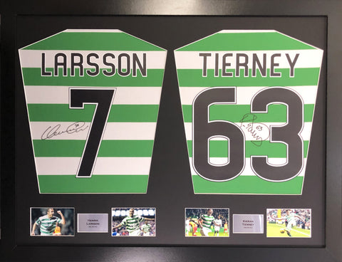 Larsson and Tierney Signed Shirt Display with COA - Kicking The Balls