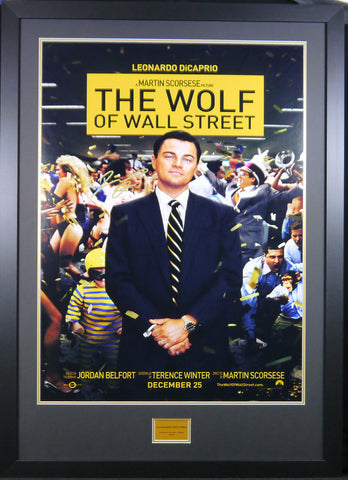 Wolf of Wall Street signed movie poster Leonardo Dicaprio with COA - Kicking The Balls