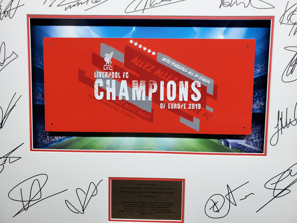 Liverpool Champions League Winners Signed Mount Street Sign 3D Display with COA - Kicking The Balls