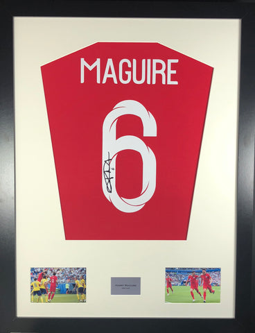 Harry Maguire England World Cup Signed Shirt Display With COA - Kicking The Balls