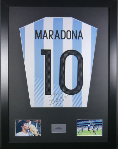 Maradona Argentina Signed Shirt Display With COA - Kicking The Balls