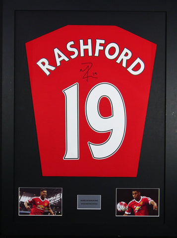 Marcus Rashford Manchester United Signed Shirt Display With COA - Kicking The Balls