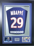 Kylian Mbappe signed PSG Shirt in 3D Display with COA - Kicking The Balls