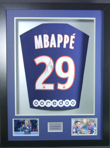 Kylian Mbappe signed PSG Shirt in 3D Display with COA f7a012217
