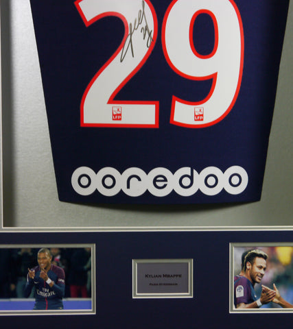 best website 099d8 f325b Kylian Mbappe signed PSG Shirt in 3D Display with COA