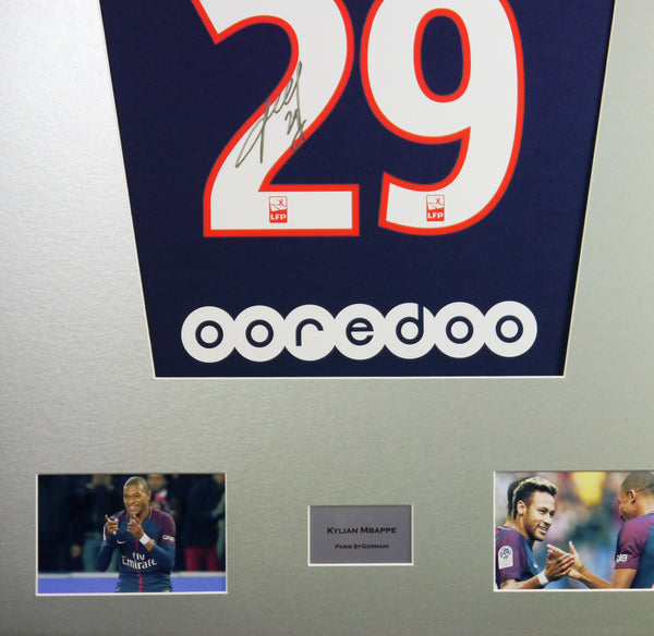 Kylian Mbappe PSG Signed Shirt Display With COA - Kicking The Balls
