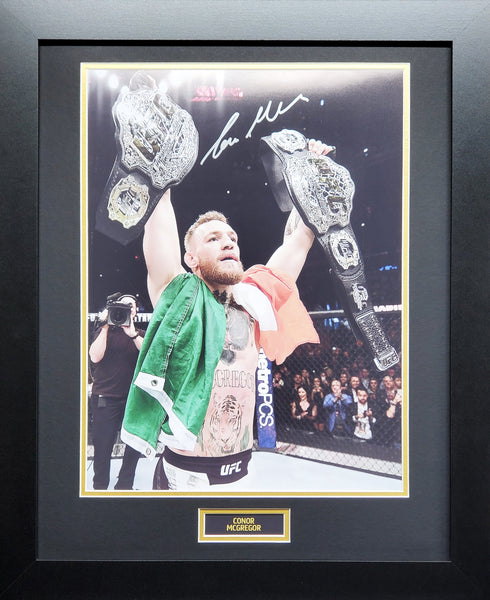 Conor Mcgregor Signed and framed photo display with COA - Kicking The Balls