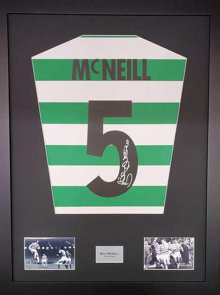 Billy Mcneill Celtic Signed Shirt Display with COA - Kicking The Balls