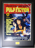 Pulp Fiction framed and signed movie poster Samuel L Jackson & John Travolta with COA - Kicking The Balls
