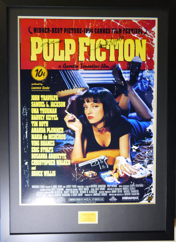Pulp Fiction signed movie poster