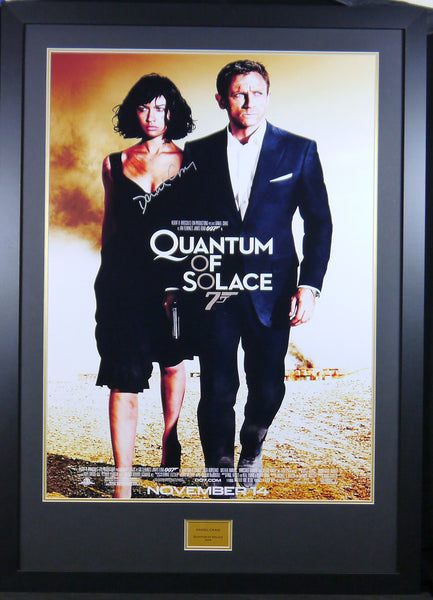 Quantum Of Solace James Bond Daniel Craig Signed Movie Poster with COA - Kicking The Balls