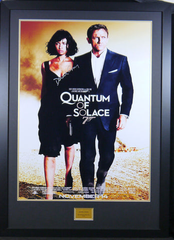 Quantum Of Solace James Bond Daniel Craig Signed Movie Poster