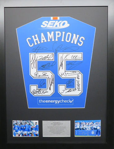 Rangers Team Signed Display with COA