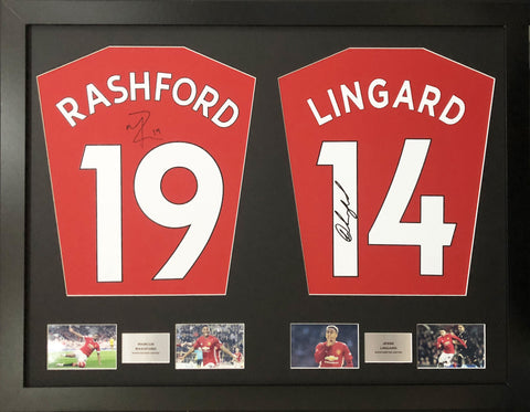 Rashford and Lingard Man United Signed Shirt Display with COA - Kicking The Balls