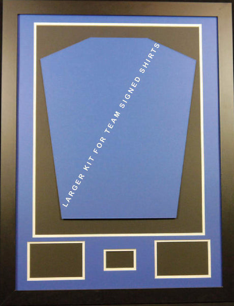 Ready made shirt framing kit with free customised metal plaque - large - Kicking The Balls