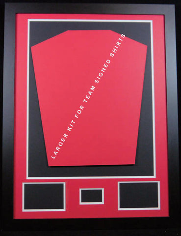 Ready made shirt framing kit with free customised metal plaque - large-Frame It Display It Framing Kit Display Manufacturers