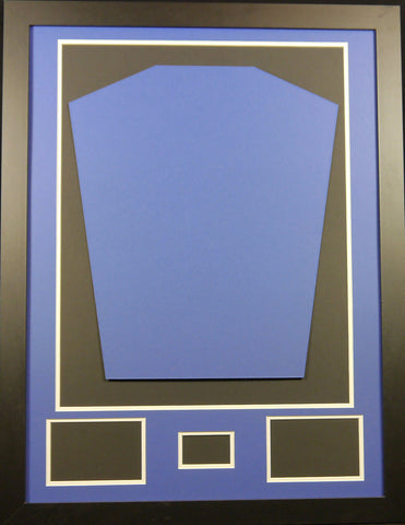 Ready made shirt framing kit with free customised metal plaque - standard size - Kicking The Balls