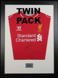 Ready made shirt framing kit with free customised metal plaque - Twin Pack (Budget) - Kicking The Balls