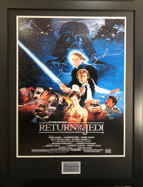 Return of the Jedi Alternate George Lucas Signed Movie Poster with COA
