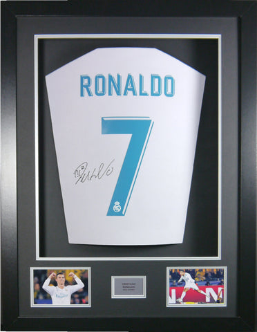 Cristiano Ronaldo Real Madrid 2018 Signed Shirt 3D Display With COA