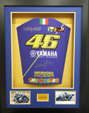 Valentino Rossi Yamaha Race Team Signed 3D Display with COA - Kicking The Balls