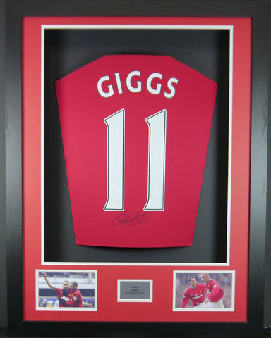 Ryan Giggs Manchester United Signed Shirt 3D Display with COA - Kicking The Balls