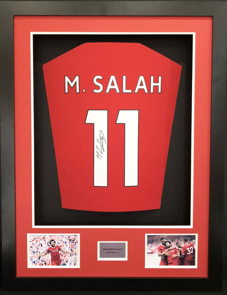 Mohamed Salah Signed Liverpool Shirt 3D Display With COA