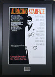 Scarface Movie poster signed and framed