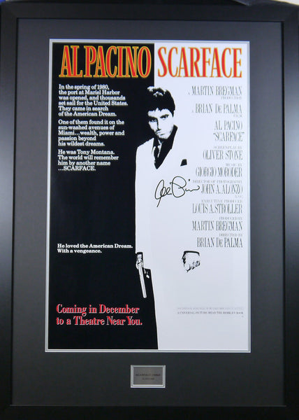 Scarface Movie poster signed and framed Al Pacino with COA - Kicking The Balls