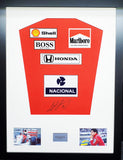 Ayrton Senna McLaren Formula 1 Signed Shirt Display with COA - Kicking The Balls