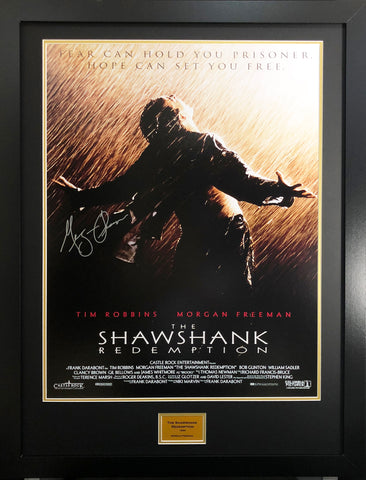 The Shawshank Redemption Morgan Freeman Signed Movie Poster With Coa